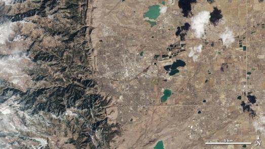 Vue du nouveau satellite sur le Colorado (Image:NASA)