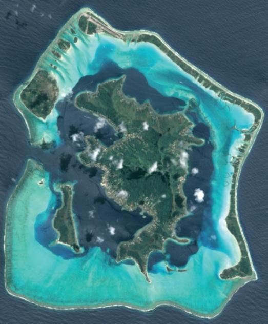 Image SPOT 6 de Bora Bora